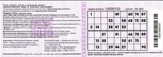 Русское лото 1353 тираж: проверить билеты, тиражная таблица от 13 сентября 2020