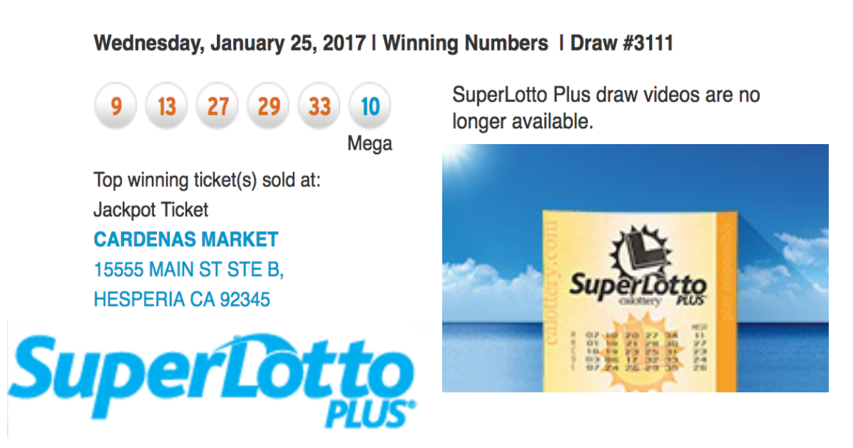 California Super Lotto - Californien lotteri, regler og billetter, anmeldelser, historie | store lotterier