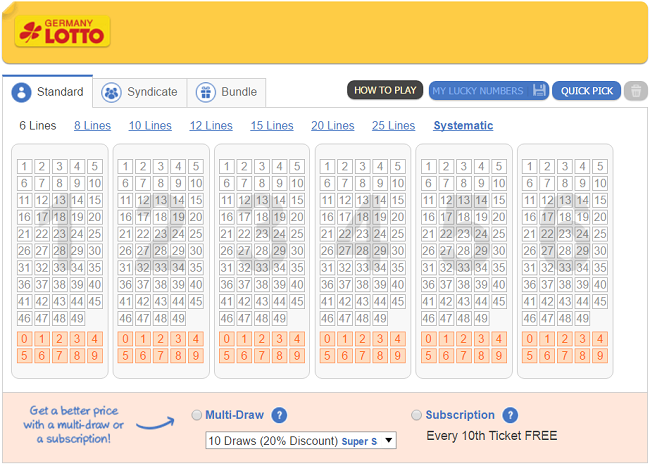 Germany lotto lottery 6 out 49 - how to play from Russia | foreign lotteries