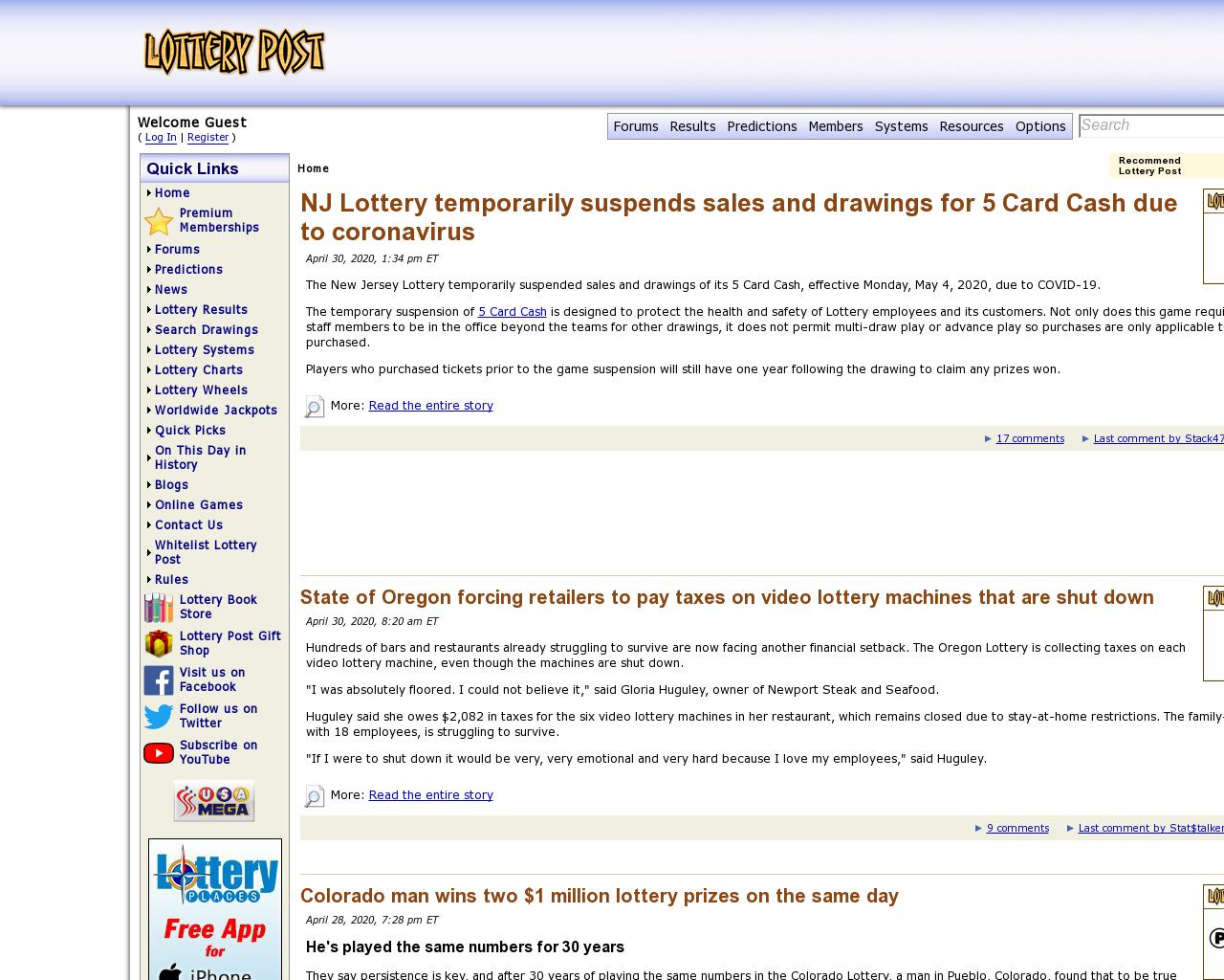 Us lottery information