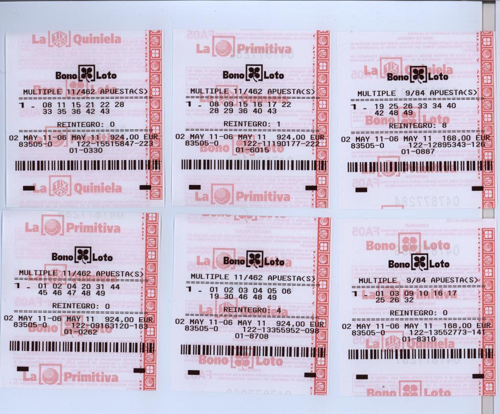 Испанская лотерея bonoloto
