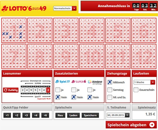 Westlotto 6 out of 49 | westlotto | lottomania