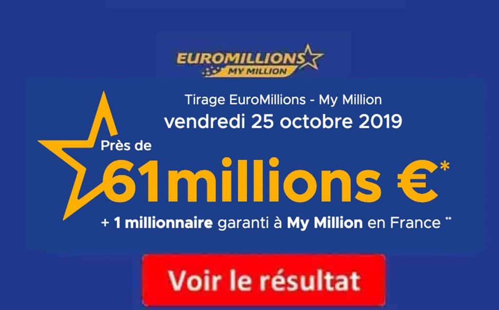 Résultats de l'euromillions