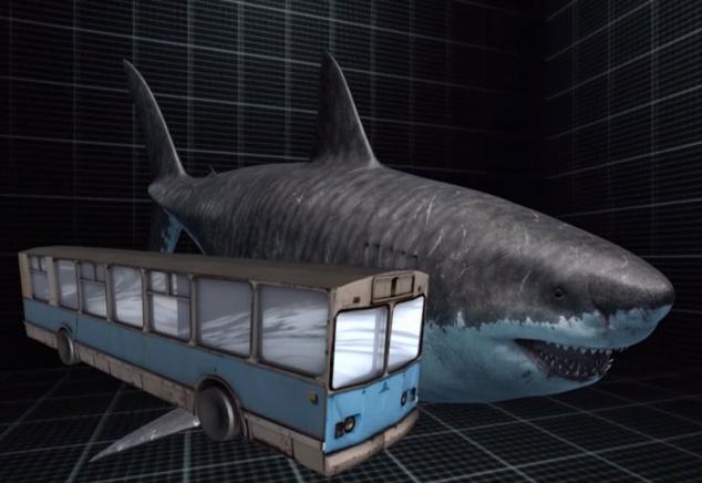 Акула мегалодон сильнее самых страшных динозавров