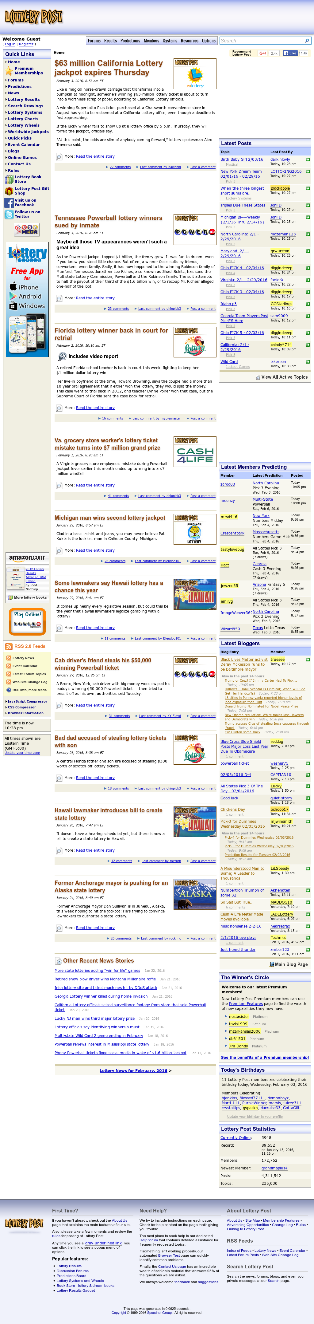 The #1 source for lottery results, reviews, and news