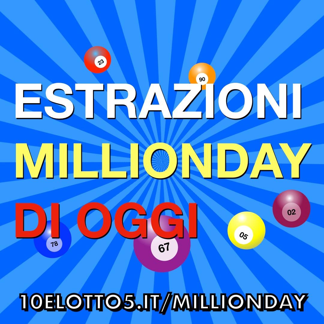 Estrazione million day (millionday) oggi 30 settembre 2020 alle 19 | lottoced