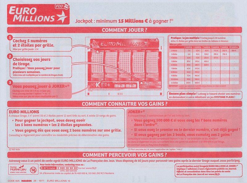 جوائز Euromillions & توزيع أموال الجائزة
