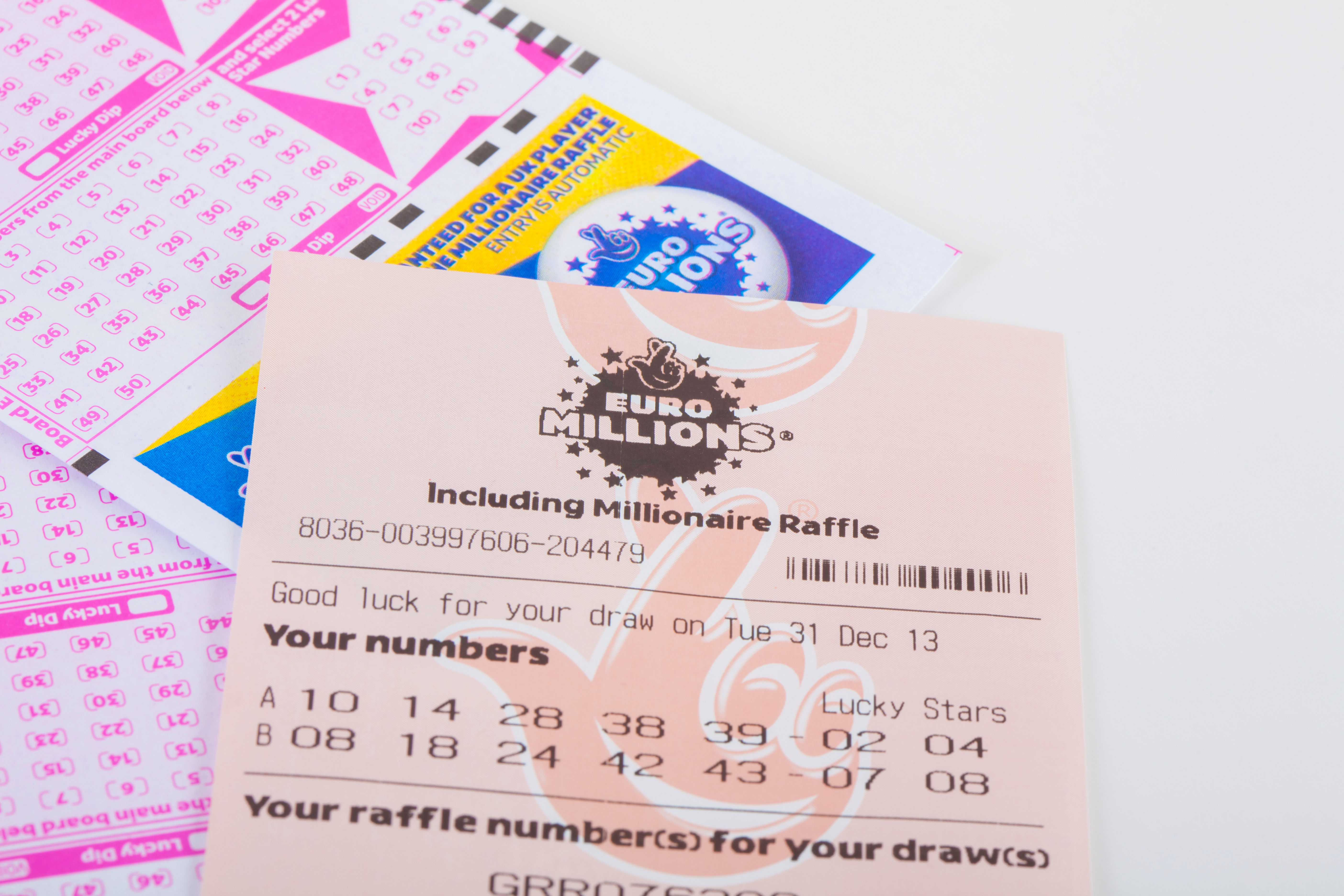 Lottery archive for millions of euros 2014 year