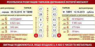 Украинская лотерея megalot (6 из 42 + 1 из 10)